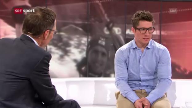 Video «Aussagen von Hirschers Auftritt im sportpanorama» abspielen