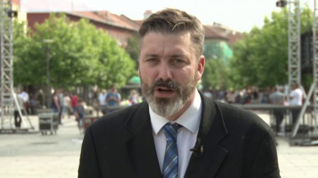Video «Georg Häsler zu den Parlamentswahlen in Kosovo» abspielen