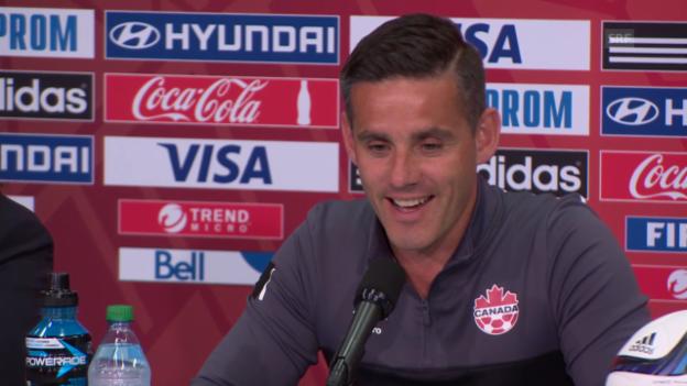 Video «Fussball: Frauen-WM, Kanada-Trainer John Herdman über Ramona Bachmann» abspielen