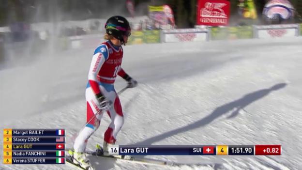 Video «Ski Alpin, Abfahrt Lake Louise, Fahrt Lara Gut» abspielen