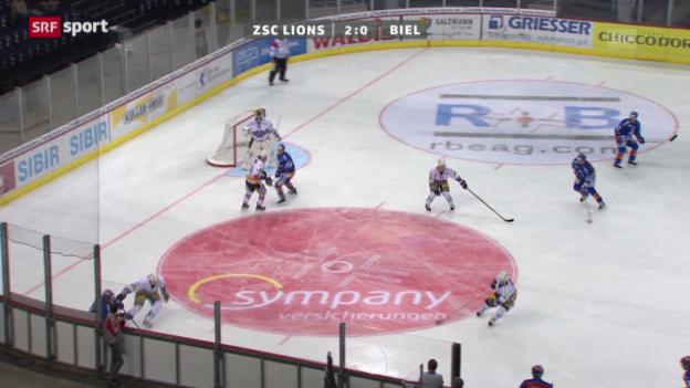 Video «NLA: ZSC Lions - Biel» abspielen