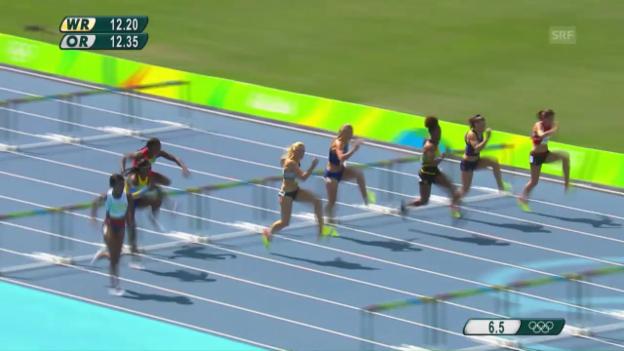 Video «Rard-Reuse über 100 m Hürden im Halbfinal» abspielen