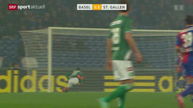 Video «Fussball: Super League, Basel - St. Gallen» abspielen