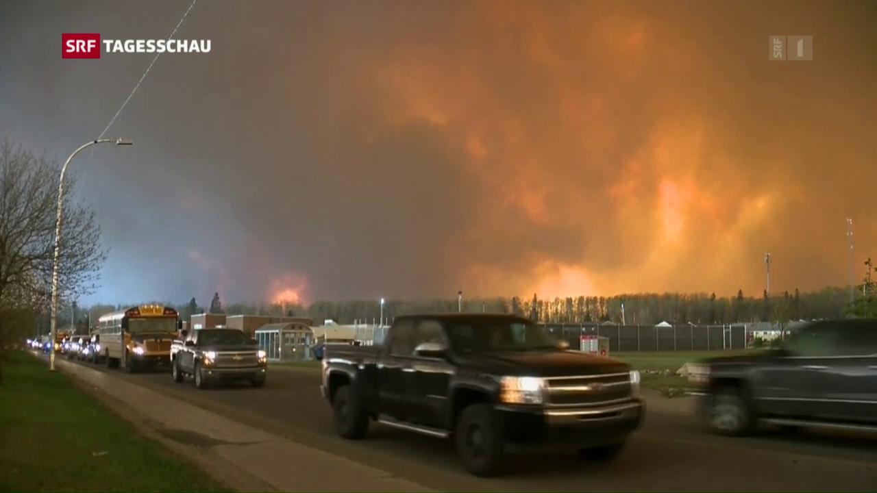 Eine Stadt wird evakuiert