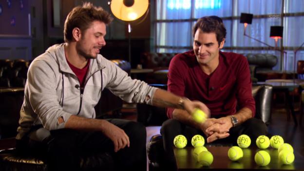 Video «Tennis: Federer und Wawrinka im Gespräch über den Davis Cup» abspielen