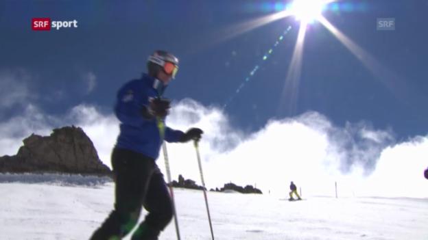 Video «Beat Feuz trainiert wieder auf Schnee («sportaktuell»)» abspielen