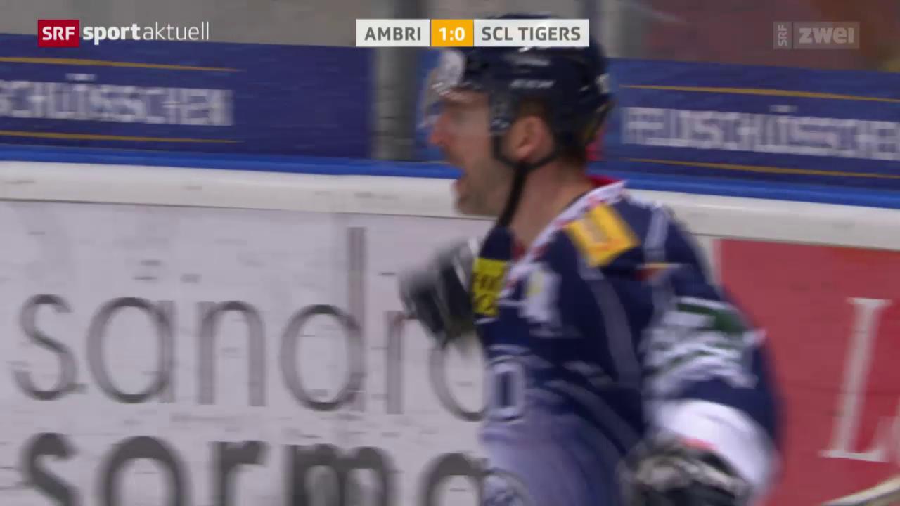Ambri nach Sieg über Tigers über dem Trennstrich