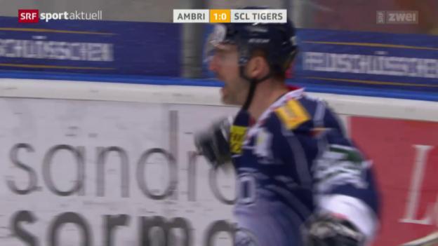 Video «Ambri nach Sieg über Tigers über dem Trennstrich» abspielen