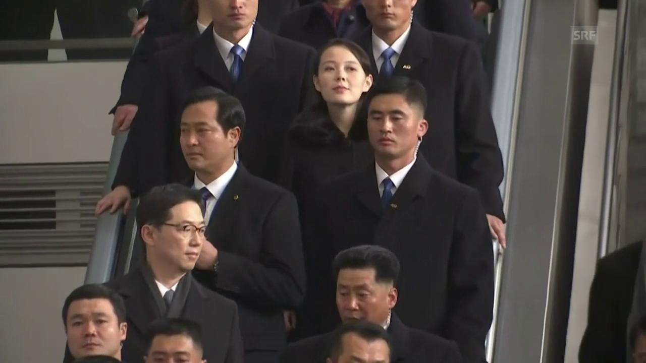 Kim Yo Jong am Flughafen von Seoul