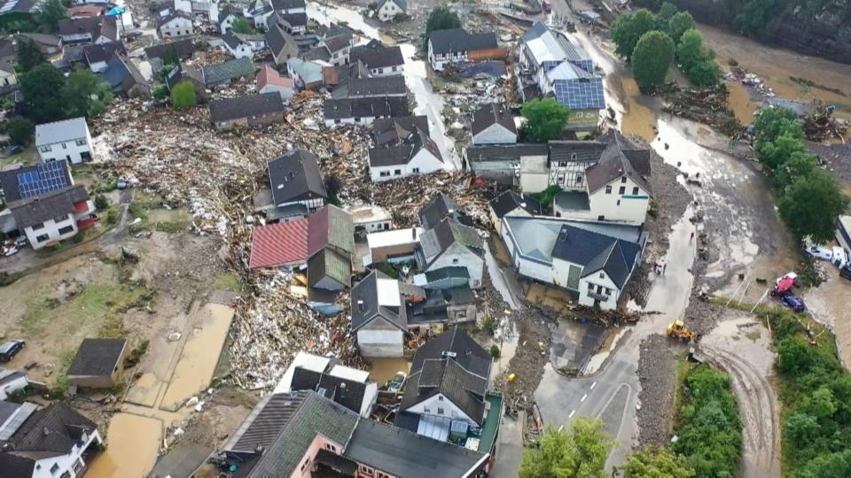Die Klimaerwärmung und die Hochwasserkatastrophe von Deutschland