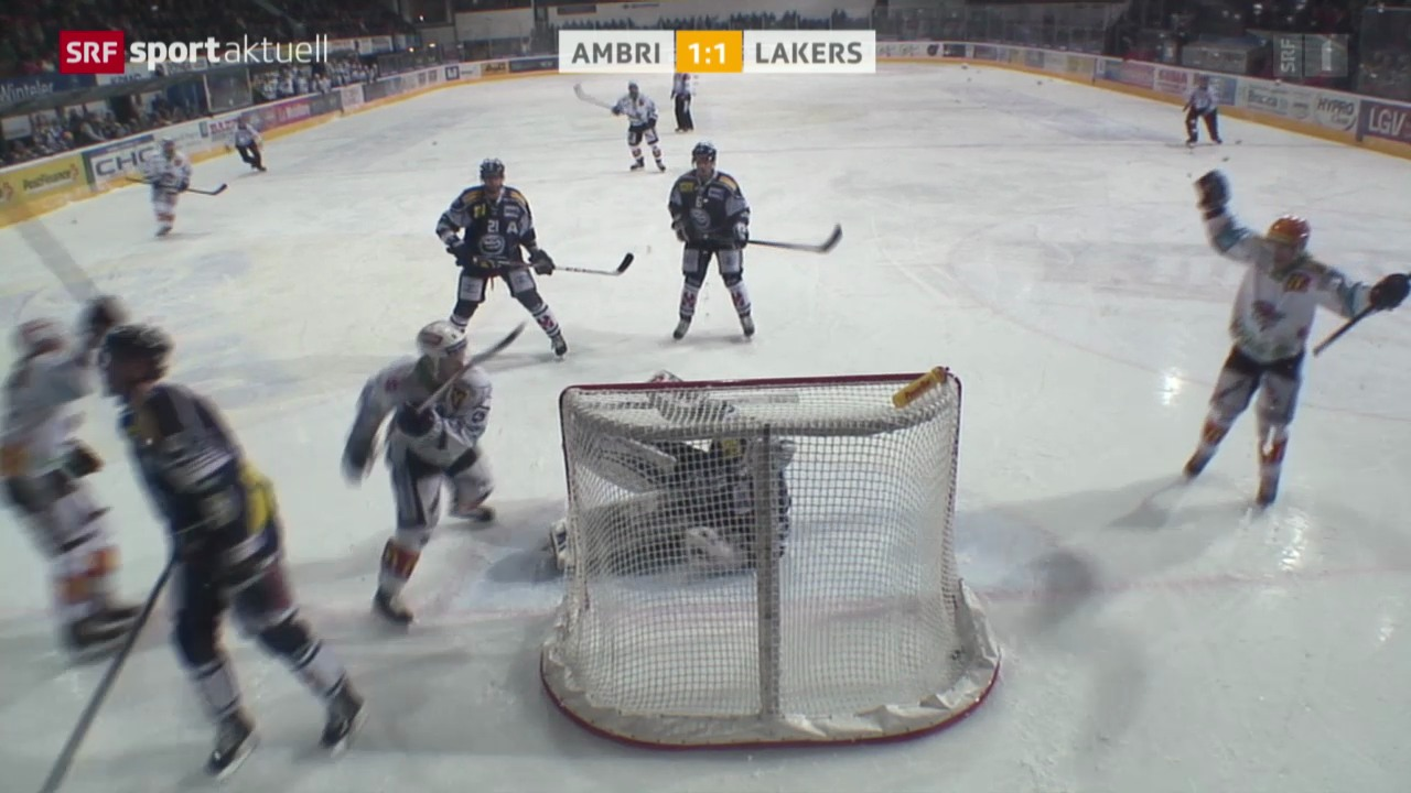 Eishockey: NLA, Ambri - Lakers
