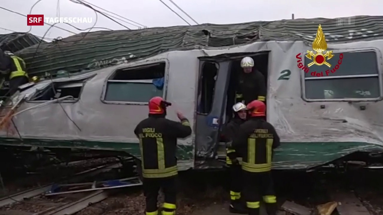 Tote bei Zugunglück nahe von Mailand