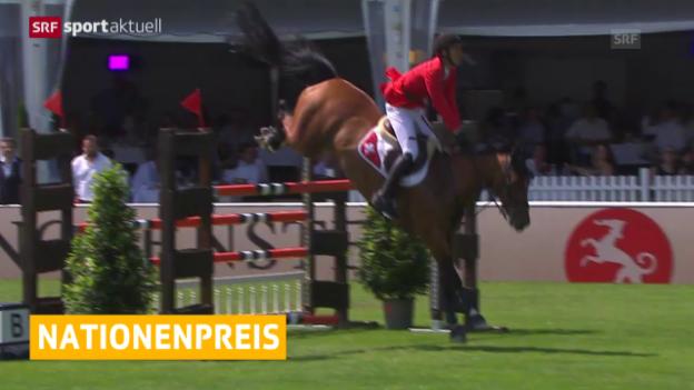 Video «Reiten: Schweiz belegt in Dublin Platz 3 und qualifiziert sich für Saisonfinal» abspielen