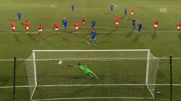 Video «Fussball: EM-Qualifikation, Zusammenfassung Island - Niederlande» abspielen