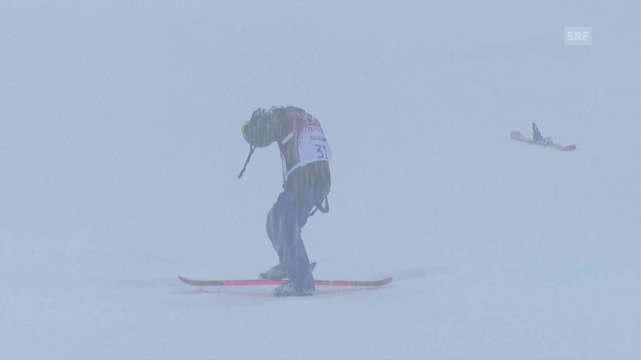 Ski Freestyle: Qualifikation Halfpipe, der 2. Run von Joel Gisler (sotschi direkt, 18.02.2014)