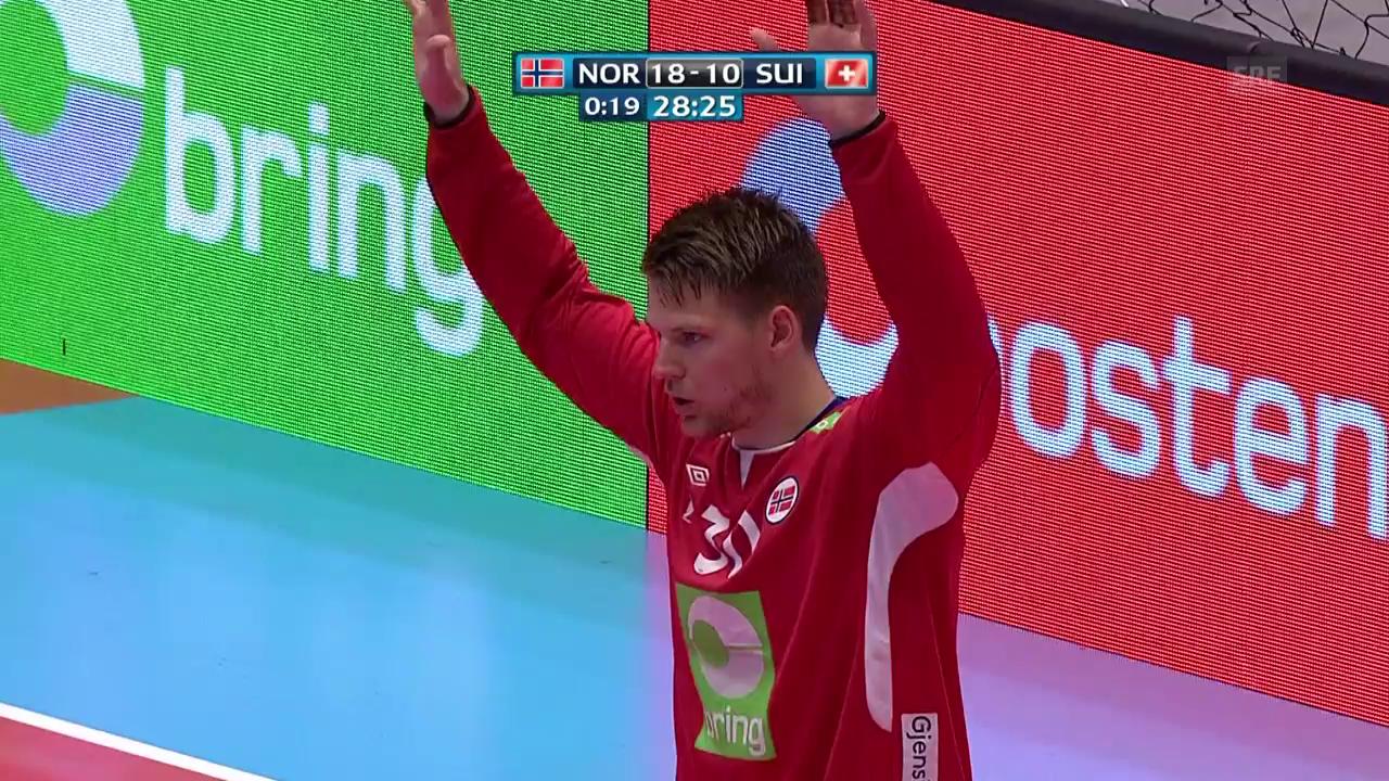Die Live-Highlights bei Norwegen - Schweiz