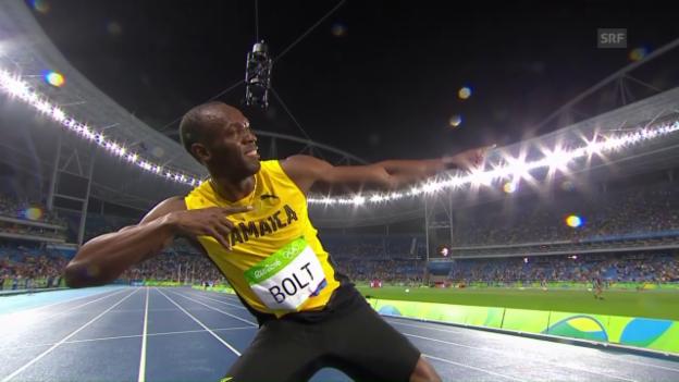 Video «Der Hundertprozentmann: Usain Bolt» abspielen