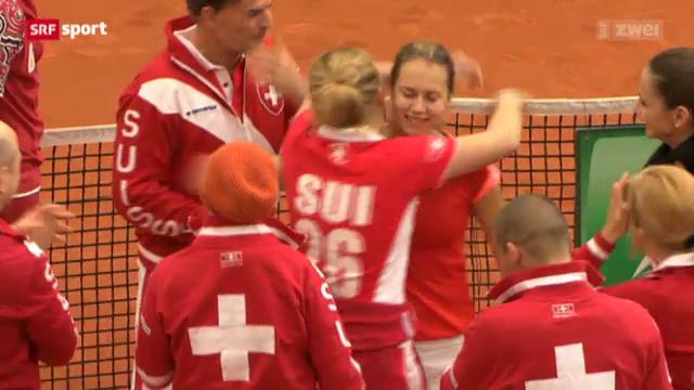 Tennis: Fedcup Schweiz - Belgien