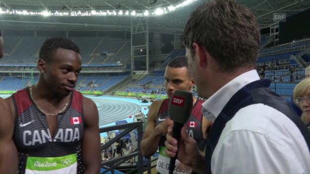 Video «Kanadische Staffel erbt Bronze und freut sich darüber» abspielen