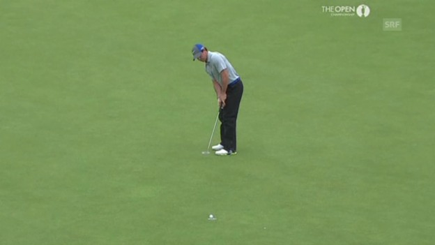 Video «Golf: Szenen aus Rory McIlroy 3. Runde am British Open (Quelle: SNTV)» abspielen