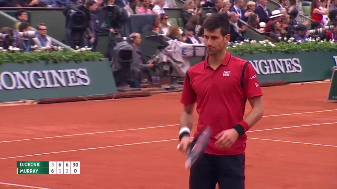 Djokovic mit grossartigem Punkt