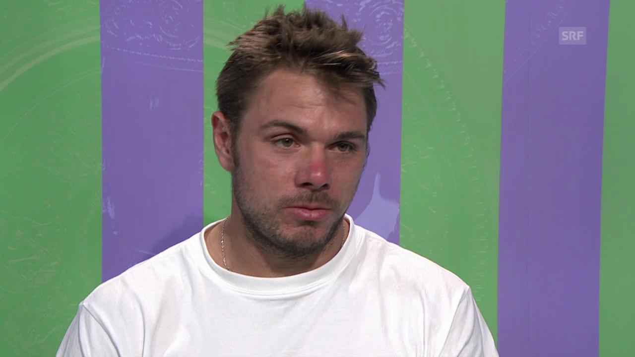 Tennis: Wimbledon, Interview mit Stan Wawrinka (franz.)