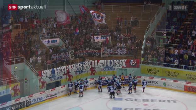 Video «Eishockey: Rapperswil-Jona Lakers - Ambri-Piotta» abspielen