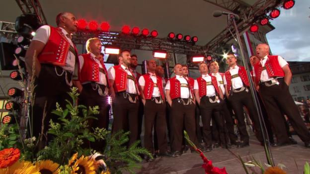 Video «Bergwaldchörli mit «Dini Seel ä chli la bambälä la»» abspielen