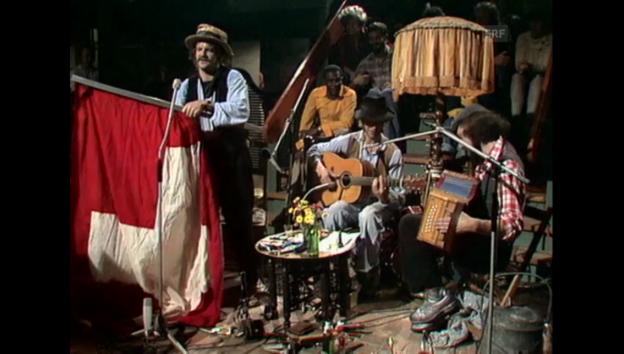 Video «Auftritt von Pfuri, Kniri & Gorps (1977)» abspielen