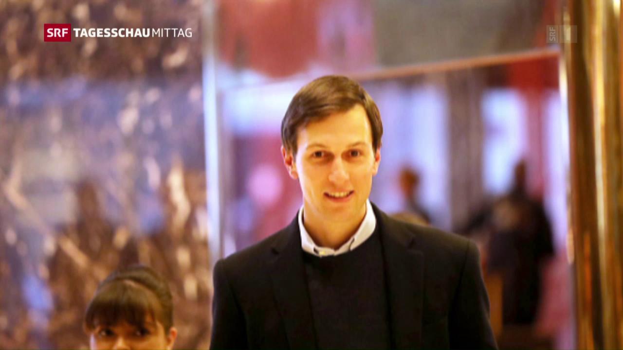 Job für Trumps Schwiegersohn im weissen Haus
