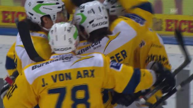 Video «Eishockey: Playoff-Viertelfinals, 3. Runde, Zusammenfassung Zug - Davos» abspielen