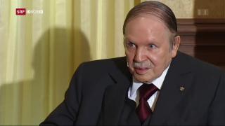 Video «Der algerische Präsident Bouteflika verzichtet auf Kandidatur» abspielen