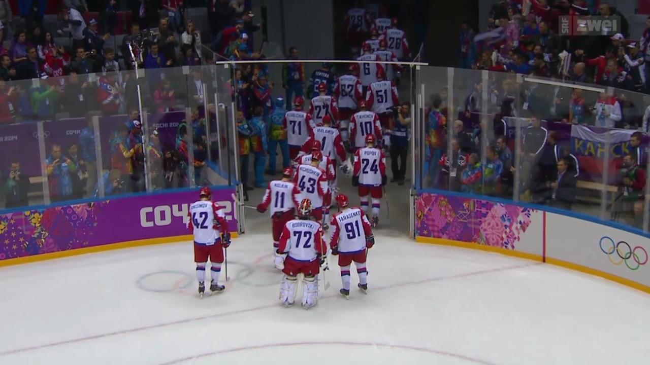 Eishockey: Russland scheitert im Viertelfinal