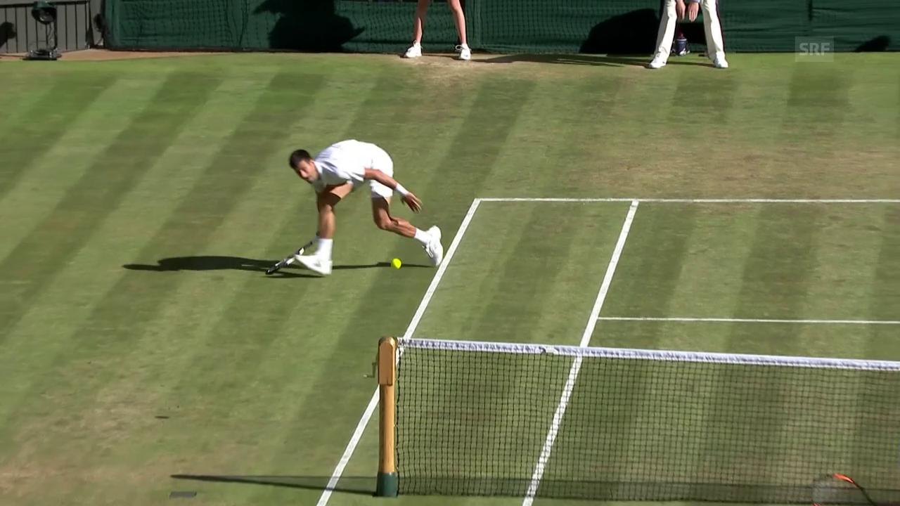 Djokovic punktet in spektakulärer Manier