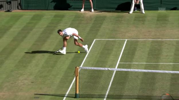 Video «Djokovic punktet in spektakulärer Manier» abspielen