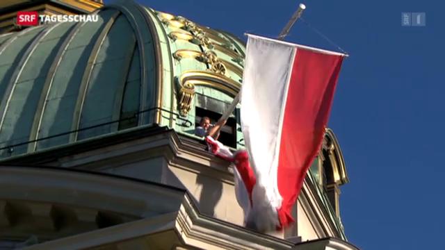 1.-August-Beflaggung des Bundeshauses