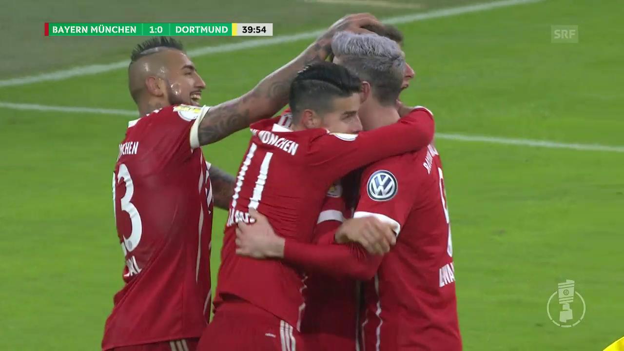 Bayern wirft Titelverteidiger Dortmund aus dem Pokal
