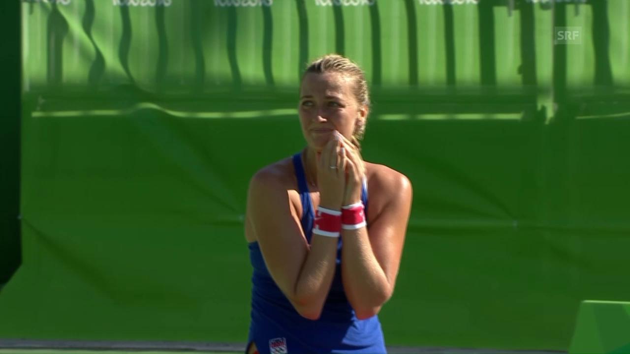Matchball zum Bronzegewinn von Kvitova