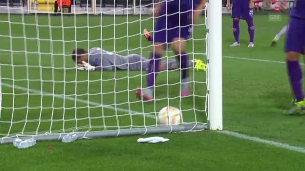 Video «Fussball: Europa League, Livehighlights Fiorentina - Basel» abspielen