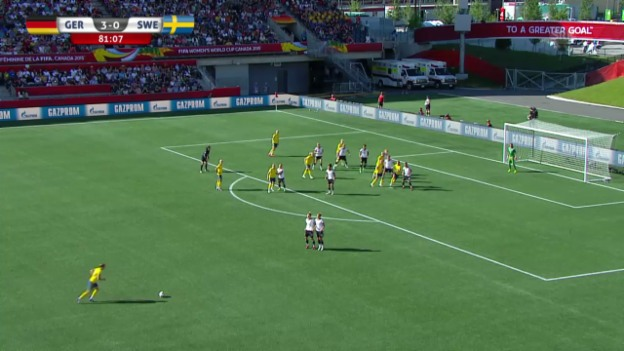 Video «Fussball: Frauen-WM, Achtelfinal Deutschland - Schweden, 3:1 Sembrandt» abspielen