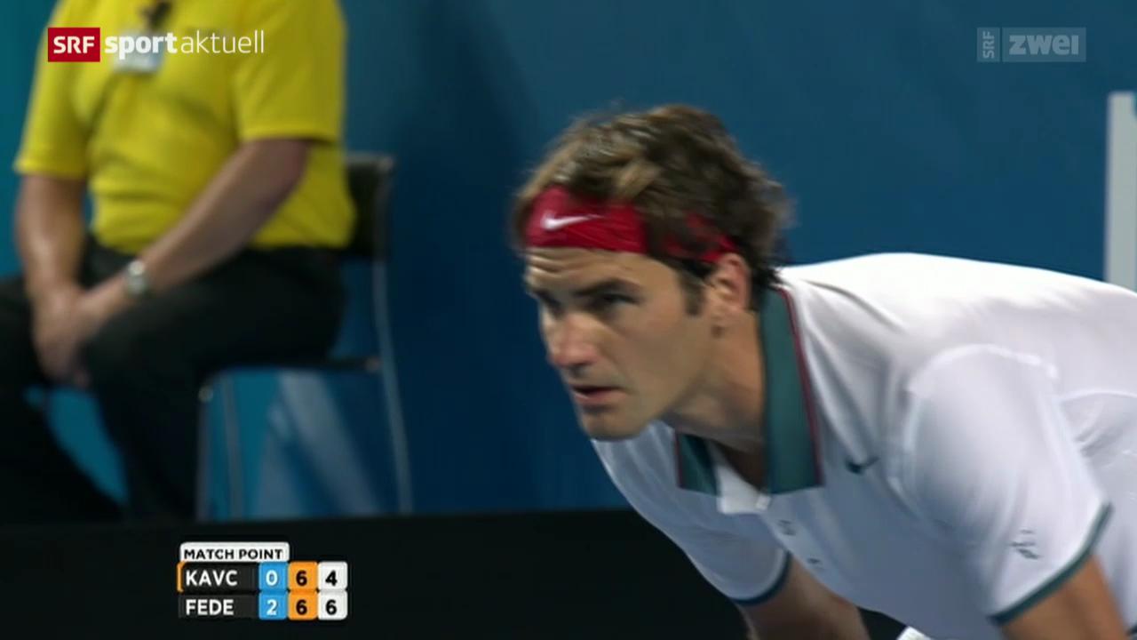 Tennis: Australian Open, Federer - Kavcic