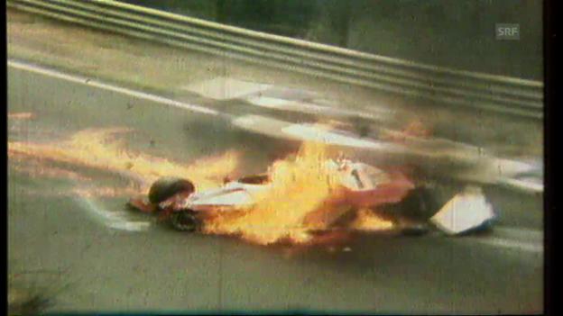 Video «Niki Laudas Unfall auf dem Nürburgring» abspielen