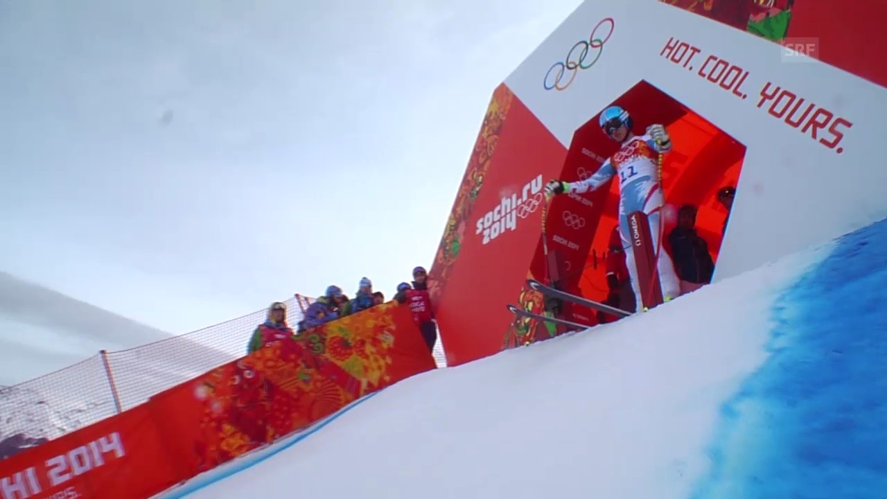 Sotschi: Ski, Abfahrt Männer, Fahrt Mayer