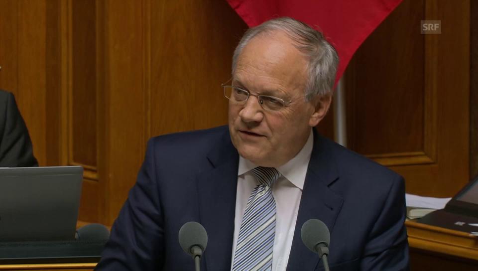 Johann Schneider-Ammann: «Fairer Franken bei 1.24 Euro»