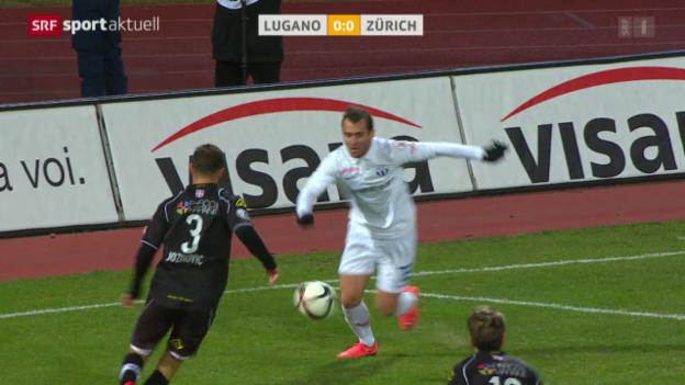 Video «Lugano und Zürich trennen sich im Kellerduell torlos» abspielen