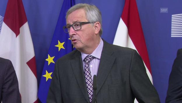 Video «Juncker: «Eine einseitige Schutzklausel kommt nicht in Frage»» abspielen