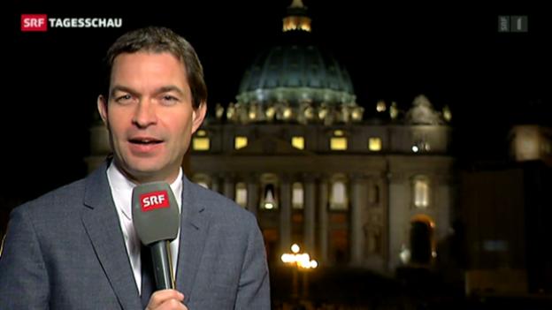 Video «Einschätzungen von SRF-Korrespondent Philipp Zahn zum anstehenden Konklave» abspielen