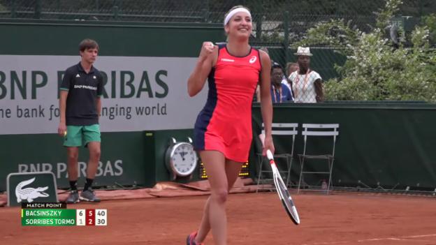 Video «Bacsinszky startet erfolgreich in die French Open» abspielen