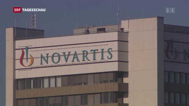 Video «Der Gewinn von Novartis ist leicht geschrumpft» abspielen