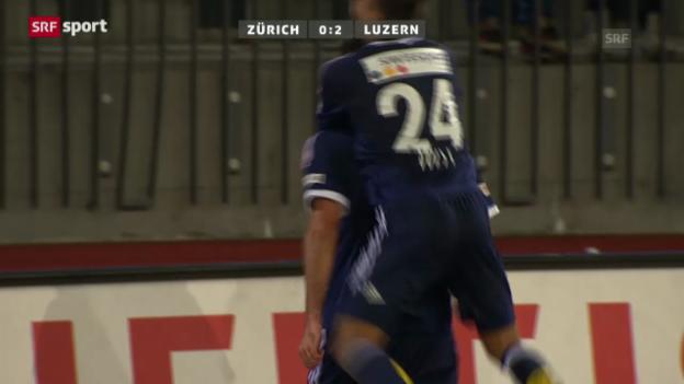 Video «Fussball: Zusammenfassung FCZ - Luzern («sportaktuell»)» abspielen